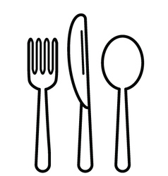 KnifeFork and Tablespoon Black vector