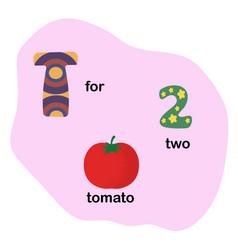 letter t for children alphabet vector image