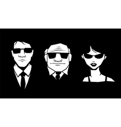Mafia peoples vector image