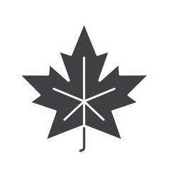 Maple leaf glyph icon vector