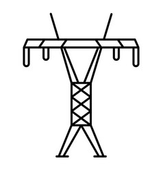 modern electric tower icon outline style vector image