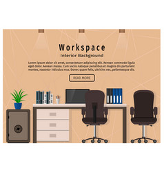 modern office workspace workplace organization vector image
