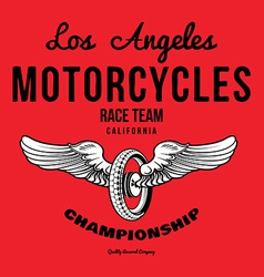 Motorcycle typography t-shirt graphics print vector image
