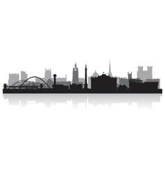 Newcastle city skyline silhouette vector