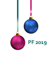 pf 2019 christmas greeting card design element vector image