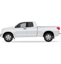 Pick-up truck side view vector image