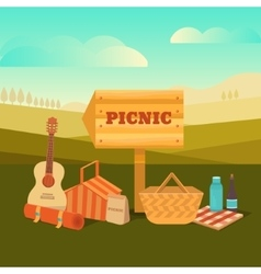 picnic outdoors vector image