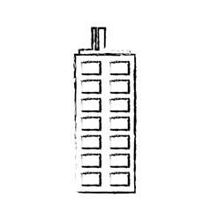 profile building line sticker image vector image