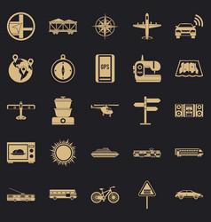 Progressive technology icons set simple style vector