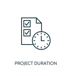 project duration outline icon thin line concept vector image