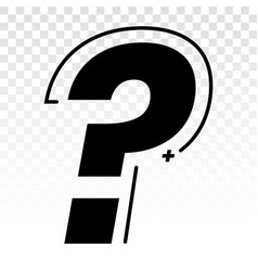 Question mark flat icon for apps and websites vector