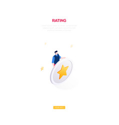 rating section - modern isometric web vector image
