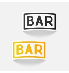 Realistic design element bar vector