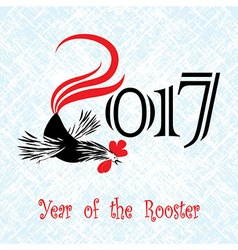 Rooster bird concept of Chinese New Year vector image