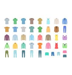 set clothing vector image