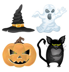 Set of halloween characters vector
