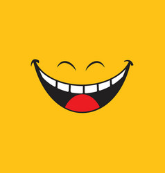 smile emotion icon vector image