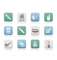 smoking and cigarette icons vector image
