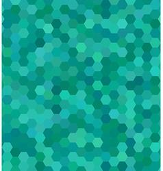 Teal color hexagon mosaic background design vector