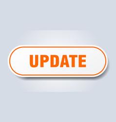 Update sign update rounded orange sticker update vector