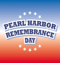 Usa pearl harbor remembrance day vector