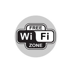vecor wifi free icon isolated on white background vector image