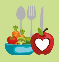 Vegan diet healthy lifestyle vector