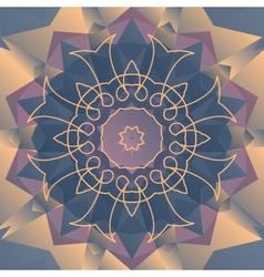 Violet stylized flower design vector image