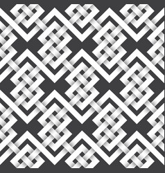 Volumetric seamless pattern intertwined bands vector