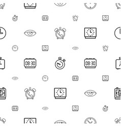 watch icons pattern seamless white background vector image