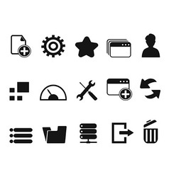 Web dashboard icons set vector