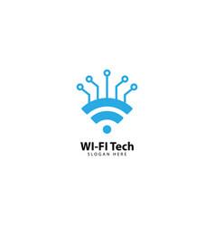 Wifi technology logo design template vector