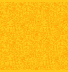 Yellow line bitcoin seamless pattern vector