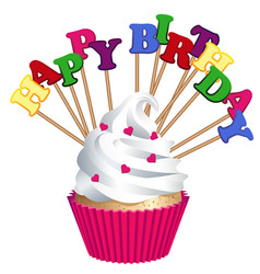 cake bakery products happy birthday vector image