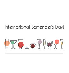 international bartenders day vector image