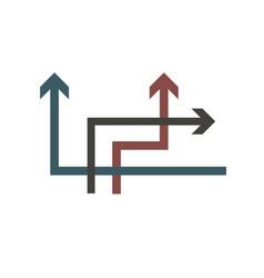 multi-colored arrows vector image