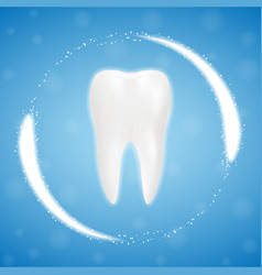 3d realistic clean tooth clearing tooth process vector