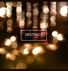 background of blurry defocused bokeh lights vector image