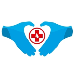 Blood Donation Emblem Template vector image vector image