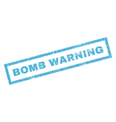 Bomb Warning Rubber Stamp vector image