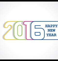 creative New Year 2016 design stock vector image