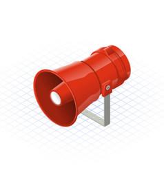 Isometric Loudspeaker Alarm Horn Sounder a Safety vector image