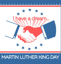 banner martin luther king day vector image vector image
