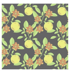 Fruits and flowers pattern vector image vector image