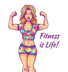 girl fitness life vector image vector image