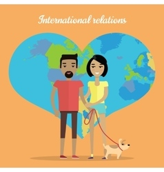 International Relations Travelling Concept vector image