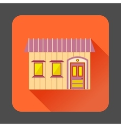Retro style home icon flat style vector image vector image