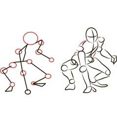 Sketch Person Playing Baseball vector image