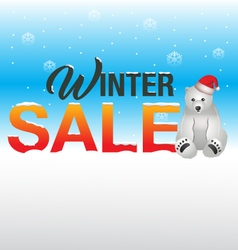 winter Sale background vector image vector image