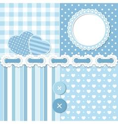 Blue scrapbook set vector image